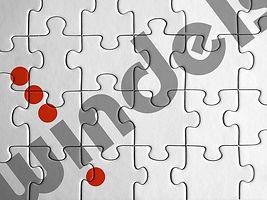 Puzzle mit Logo