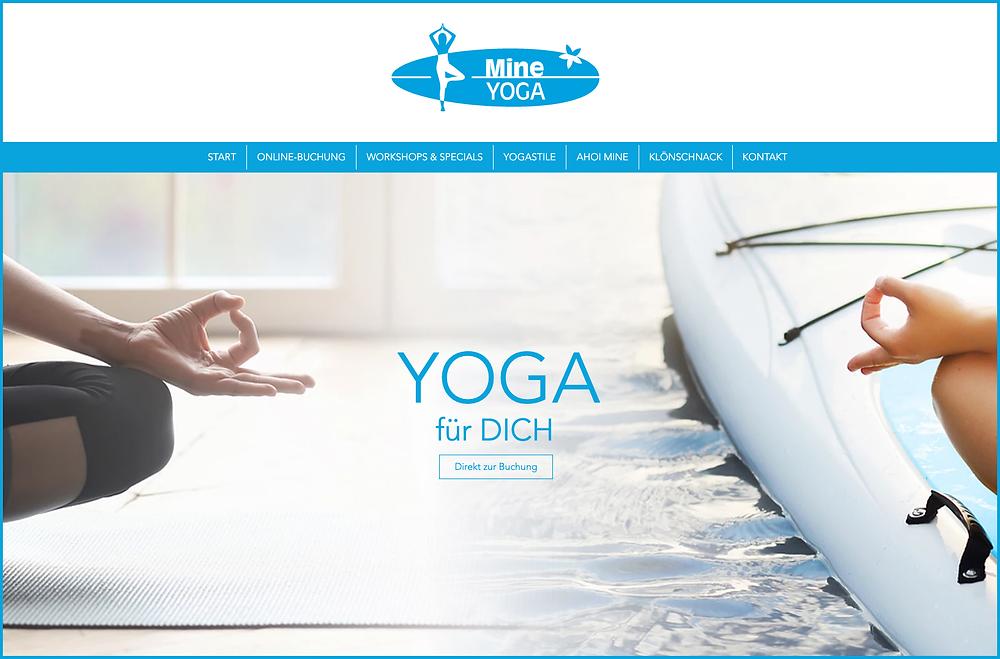 Homepage MineYoga Startseite