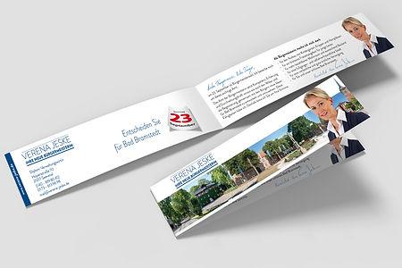 Flyer für Verena Jeske für den Bürgermeisterwahlkampf