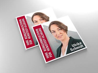 Vierseitiger Flyer – Wahlkampagne Ulrike Schmidt
