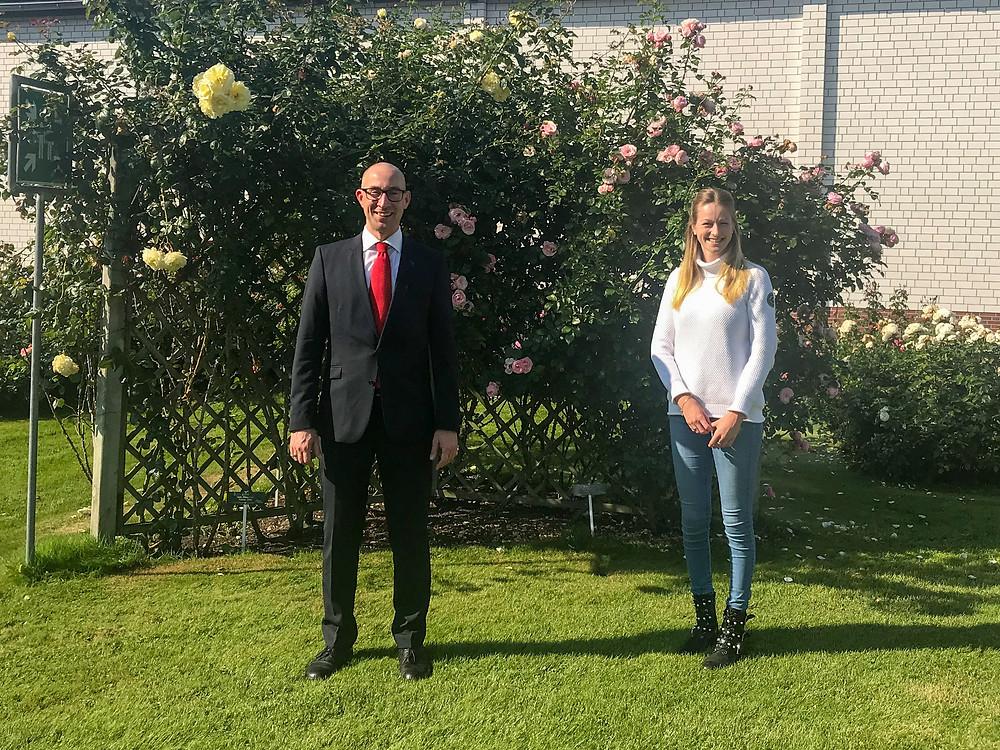 Dirk Woschei und Miriam Busch von Rosen Tantau