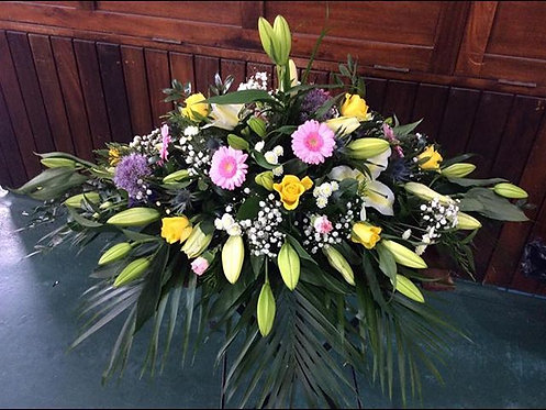 4ft Colourful Coffin Cover