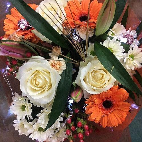 Orange Handtied Bouquet