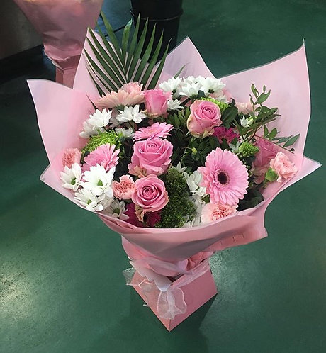Pink Gift Box Bouquet