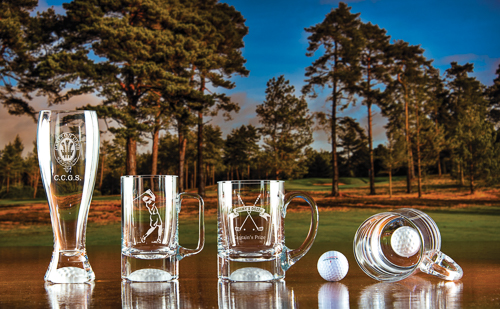 Sherwood Lager Glass, Golf Ball Bottom Tankards S & L bottom view