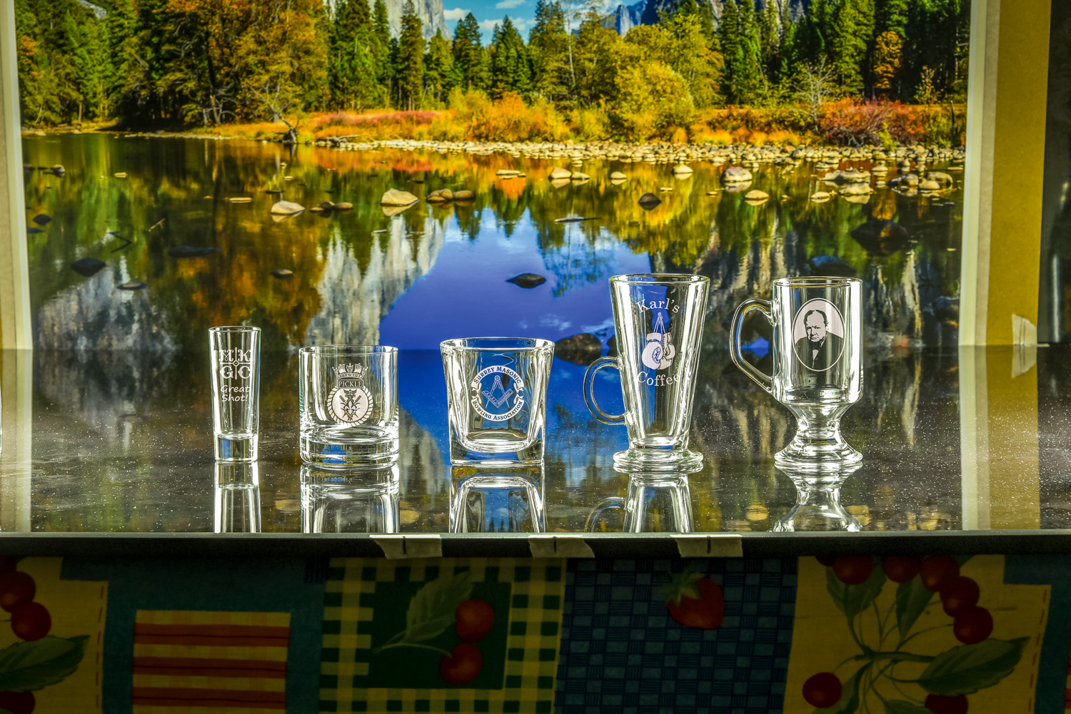 Majestic Crystal 2019 Brochure photos Shot Tot, Islande Tumbler, Admittable Tumbler, Latte Glass, Ga