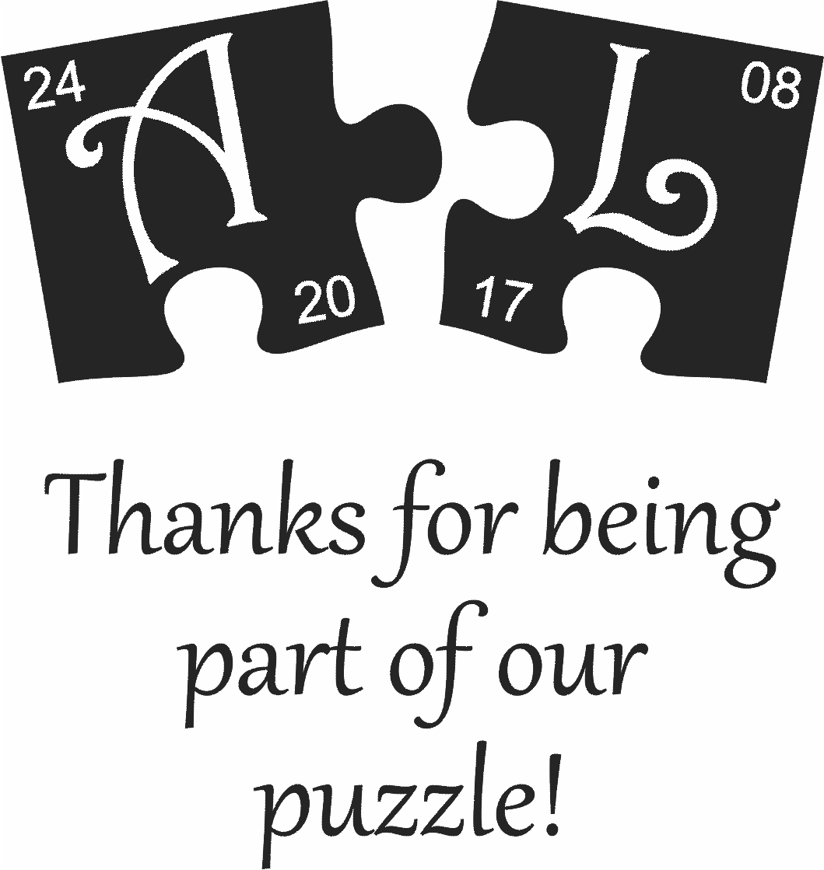 Wedding Puzzle A & L