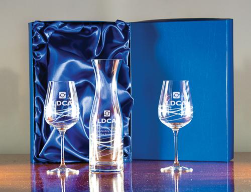 Majestic Crystal Carafe & Goblets