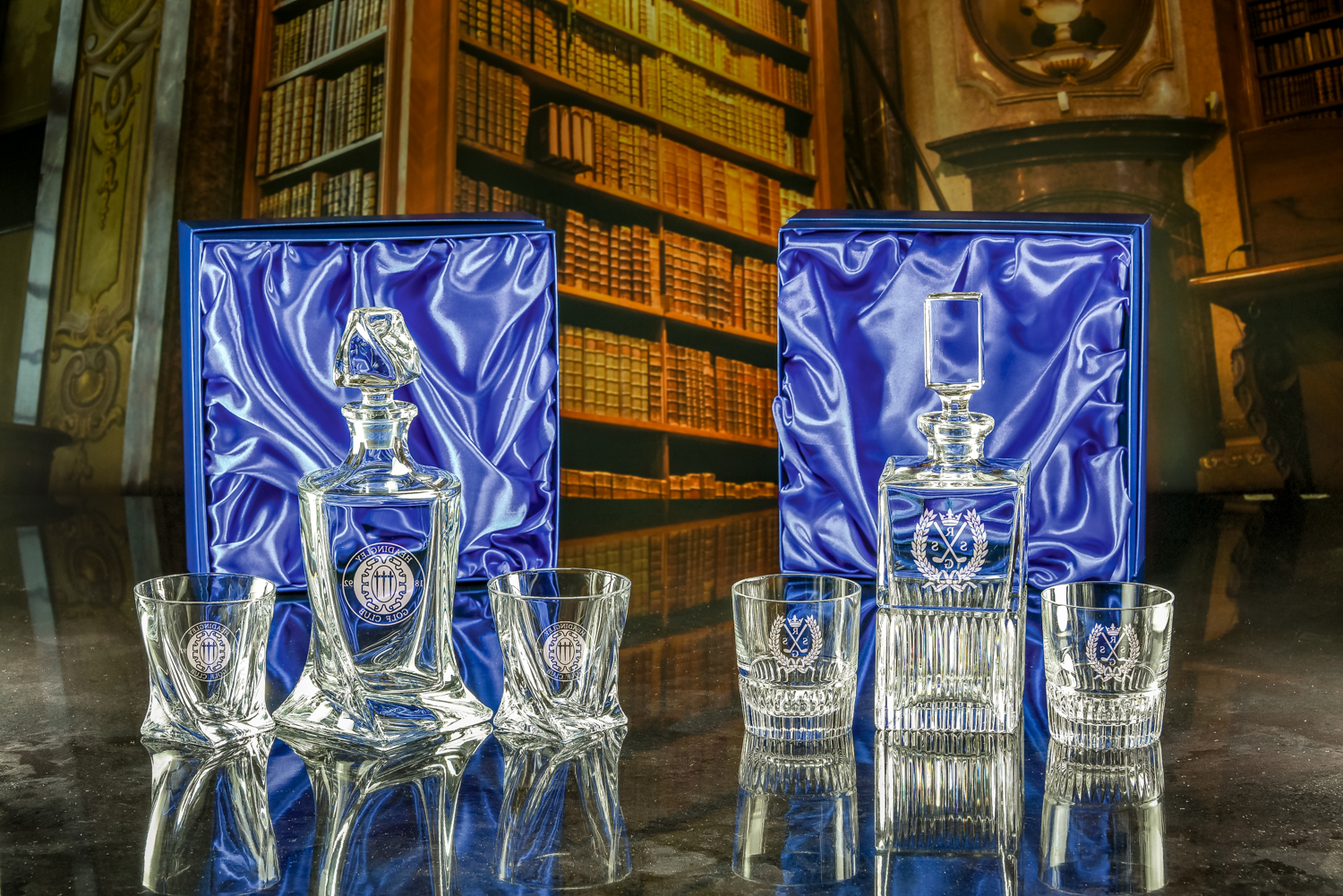 Majestic Crystal 2019 Brochure photos Boxed Set of Barley Decanter & Two Barley Tumblers & Olympic D