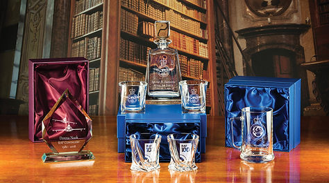 Selection of Engraved Majestic Crystal wth the RAF100 design