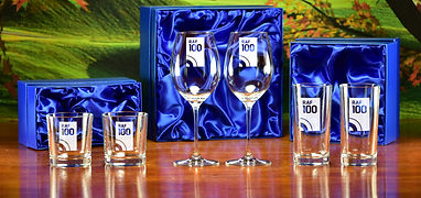 Engraved Majestic Crystal selection of boxed pairs wth the RAF100 design