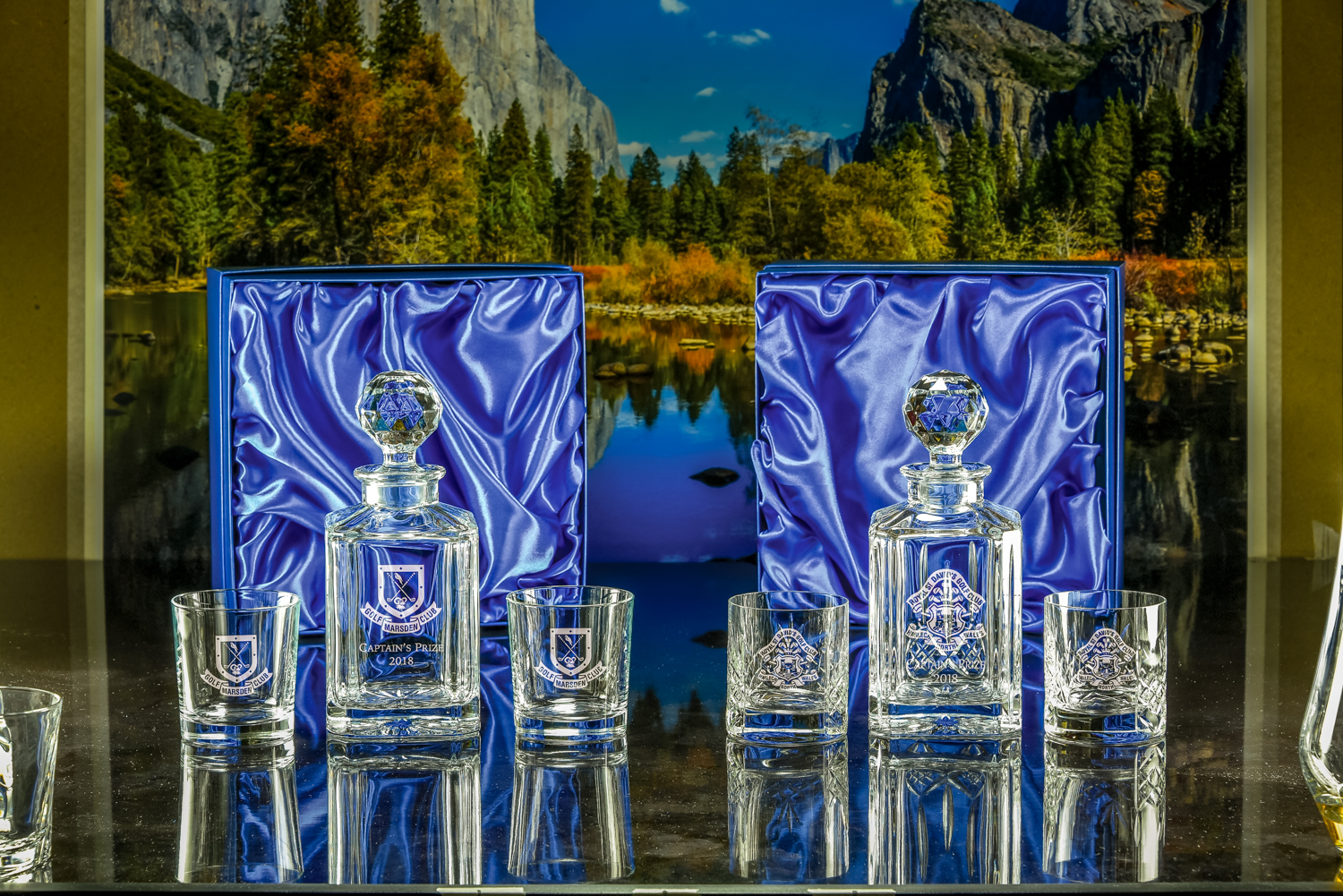 Majestic Crystal 2019 Brochure photos Boxed Set of Plain Salisbury Decanter & Two Toscana Tumblers-3