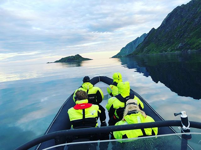 Midnight cruise on a calm lofoten sea _J