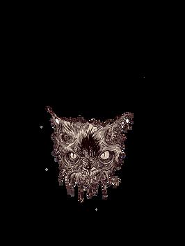 T-shirt with hi-res cat black.png