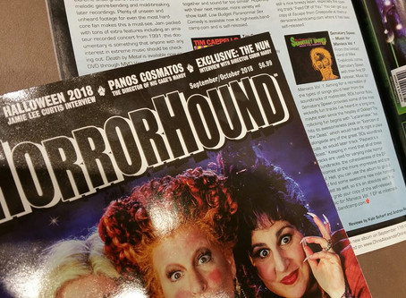 """Sematary Spawn's """"Music For Maniacs Vol. 1"""" in HorrorHound Magazine!"""