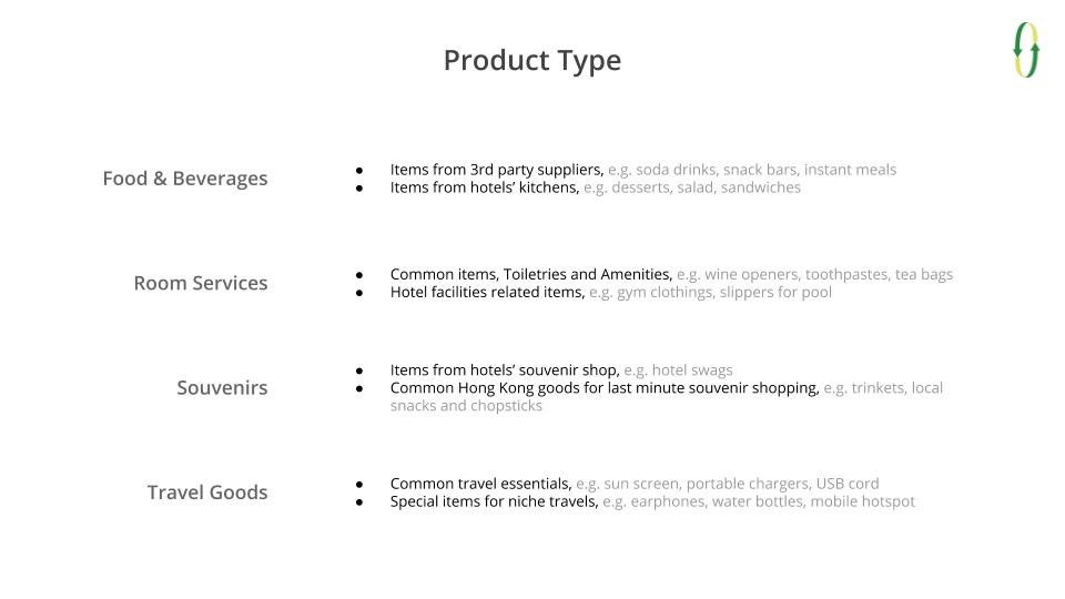 Product Type for Vending Machine