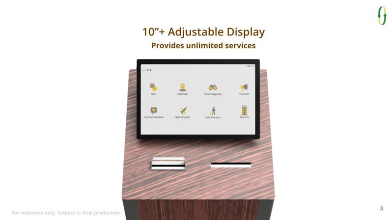 10 inches Adjustable Display
