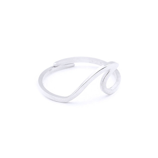 WAVE RING || silver plated