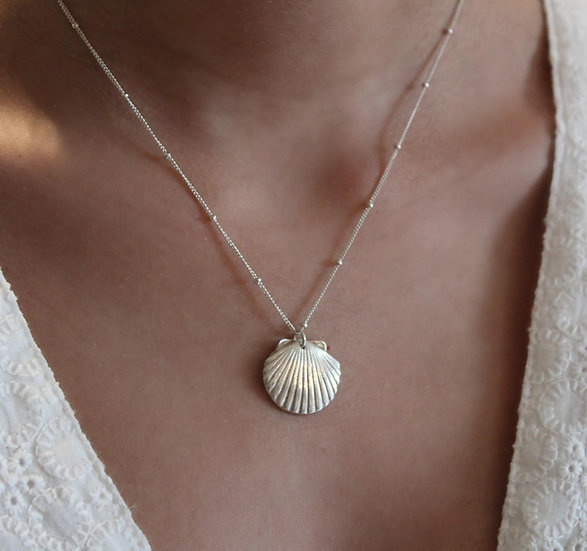 SHELL NECKLACE || pure silver