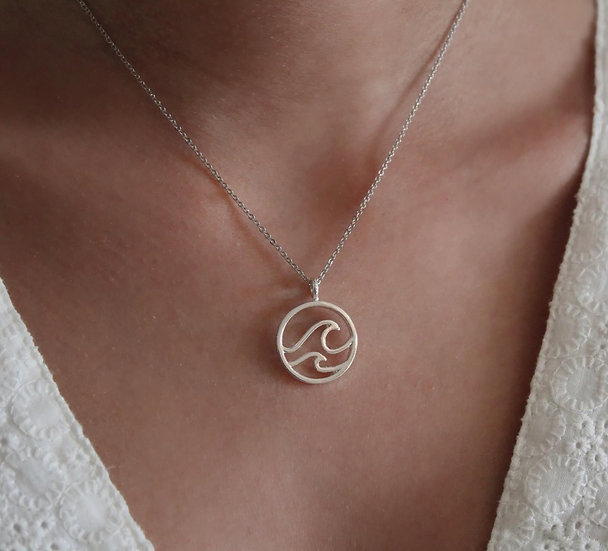 WAVE NECKLACE || silver 925