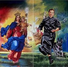 MARIA NOS EXORTA A SER O REFLEXO DO AMOR DE DEUS E A TESTEMUNHAR JESUS RESSUSCITADO