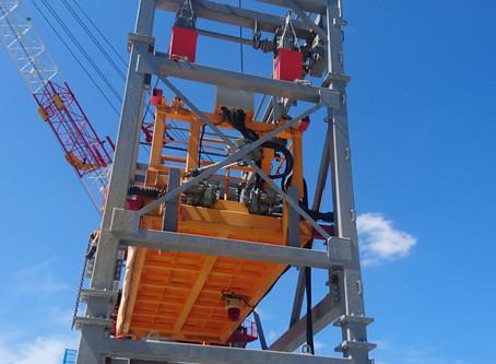 昇降装置解体工事