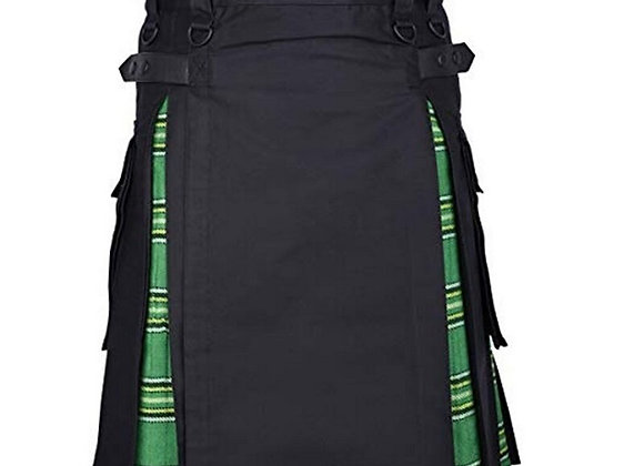2020 Hot Scottish Mens Kilt - Belted Pleated Bilateral Chain Gothic Punk Tartan