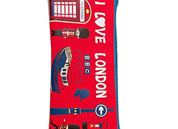 London Themed Cloth Students School Pencil Pouch - British Office Pencil Case