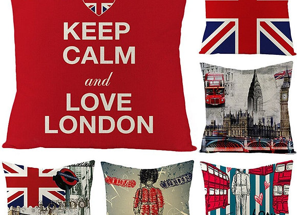 Unique British Throw Pillow Cushion Covers  17 inch - England Themed Decor