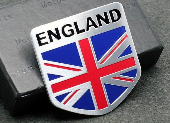 3D Aluminum ENGLAND Car DeCal Sticker British Flag Union Jack