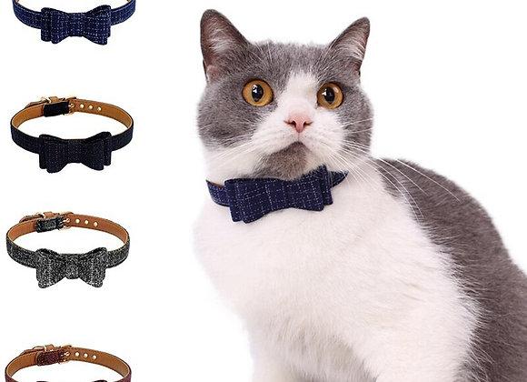 Mr. Fancypants Bowtie  - British Style - Adjustable Buckle Pet Collar