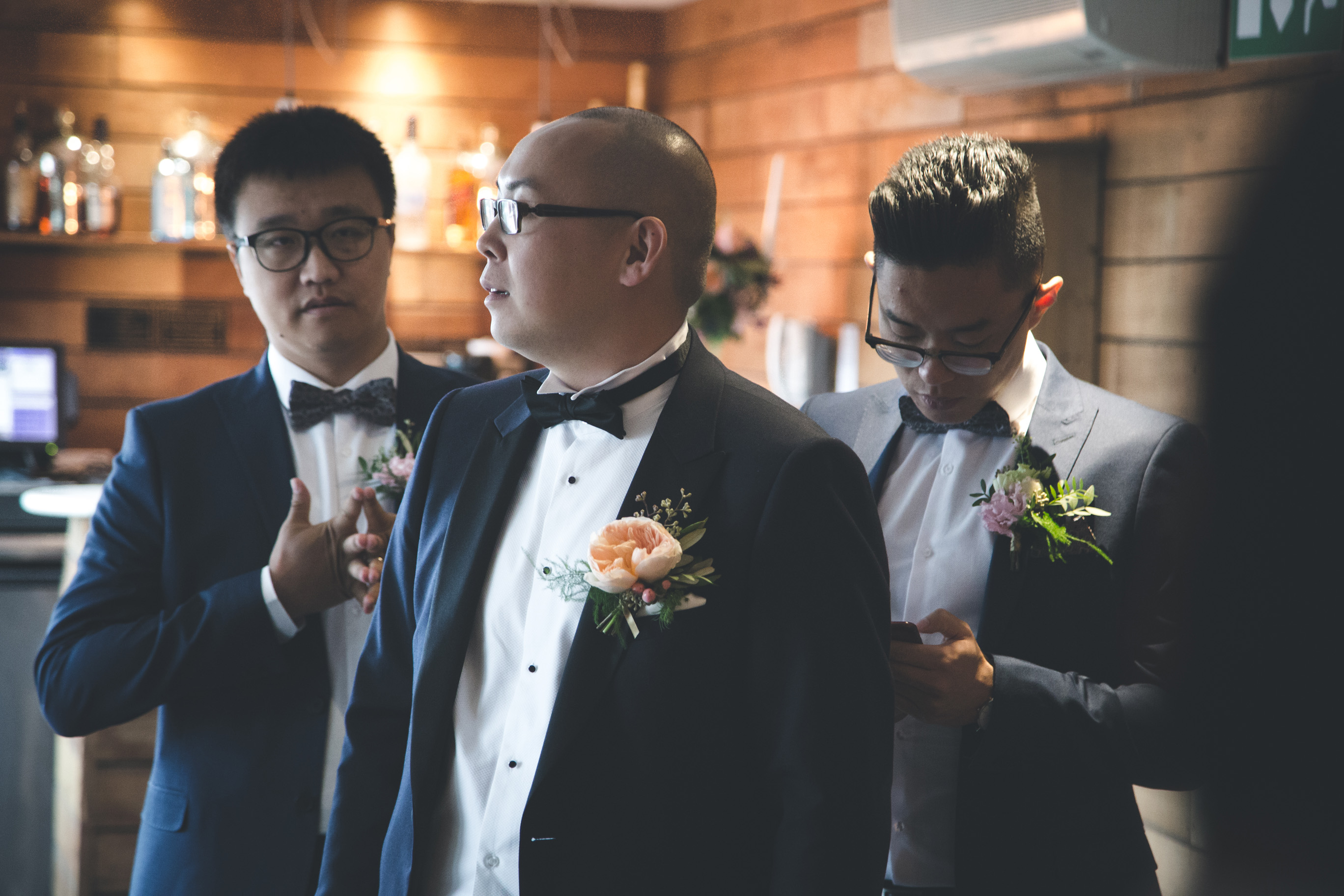groom and the best men