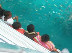 Camp Kuumba aboard the boat