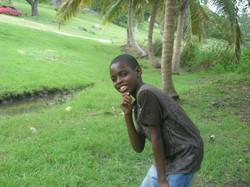 Smiling camper at Camp Kuumba