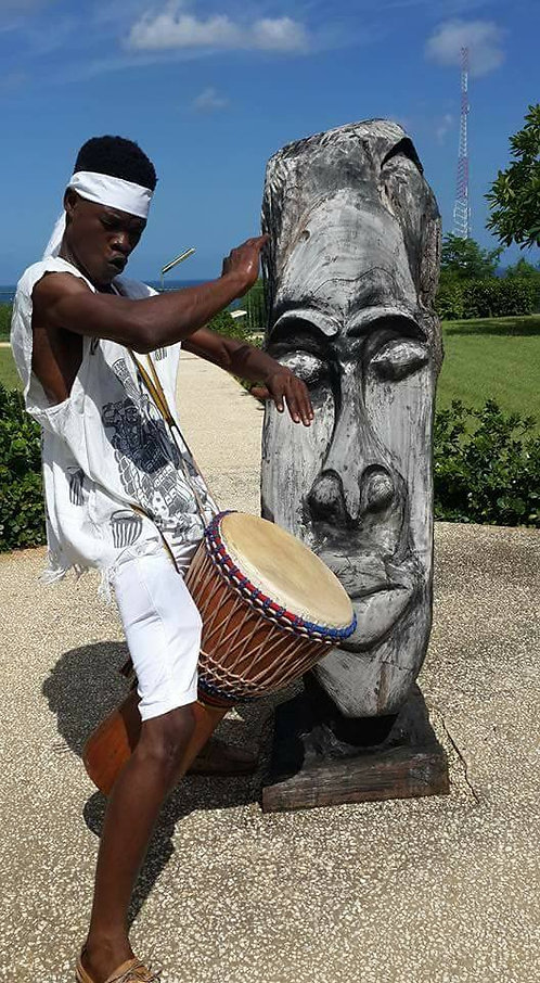 ILF Drummer, Zachary Bostic, playing at Carifesta XIII in Barbados, August 2017