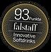 Dieses Siegel zeigt die Falstaff Blindverkostung: Innovative Softdrinks - 93/100 Punkte für Bärnstein Dirndl.