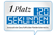 Dieses Siegel zeigt den Ideenwettbewerb 120 Sekunden, wo Bärnstein den Preis zur innovativsten Geschäftsidee von ganz Niederösterreich gewann.