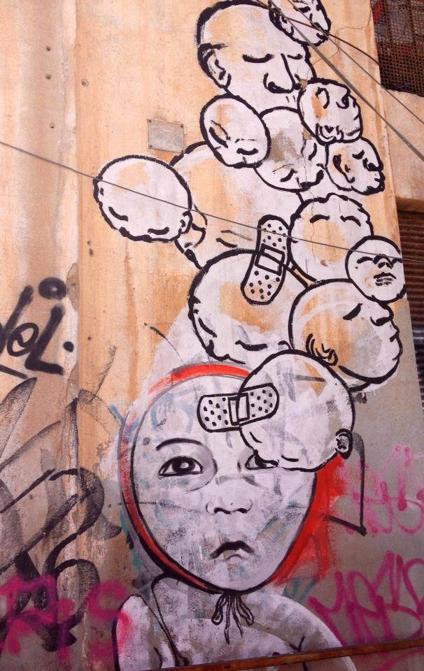 דדה על קירות בתי המלאכה בפלורנטין