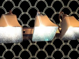 DIY DECOR: GLITTER VANITY LIGHT FIXTURE
