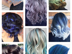 Bold Blue Highlight Hairstyles