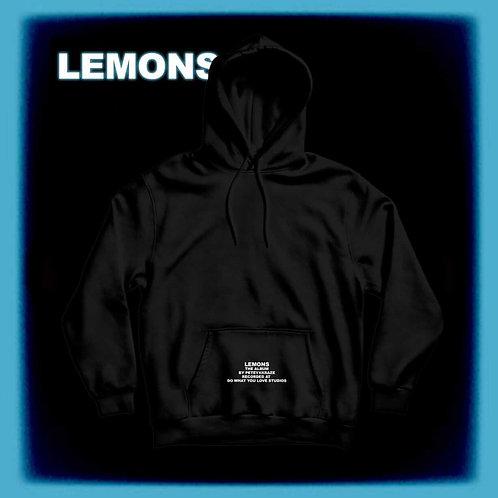 """Black """"World Is A Lemon"""" Hoodie"""
