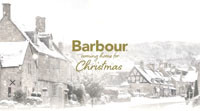 Barbour advertisement showing image by Andrew Roland