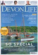 Devon Life magazine showing front cover by Andrew Roland