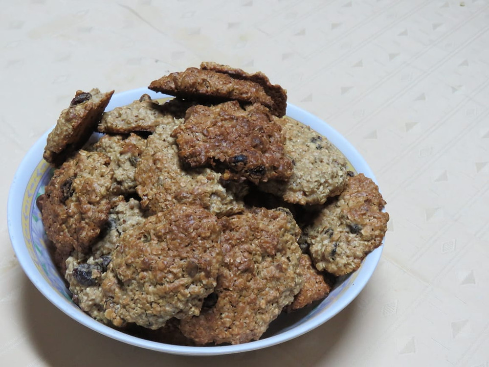 Galletas de Avena y frutos secos