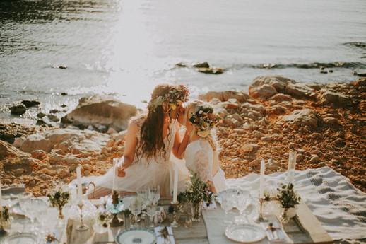 photographe mariage bord de mer marseille roxane nicolas