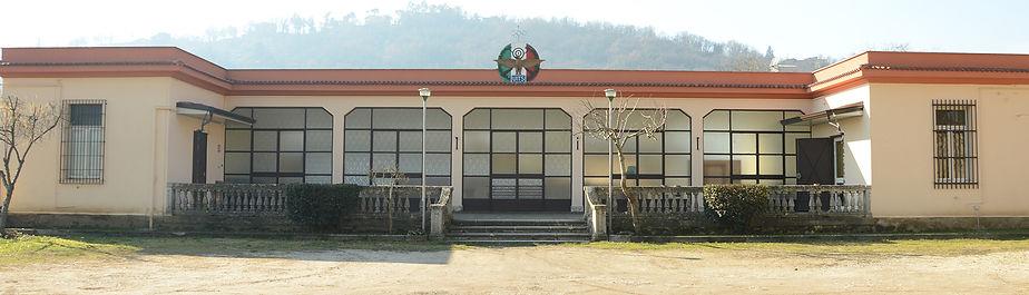 La facciata principale del nostro poligono di tiro risalente agli anni 30 del '900