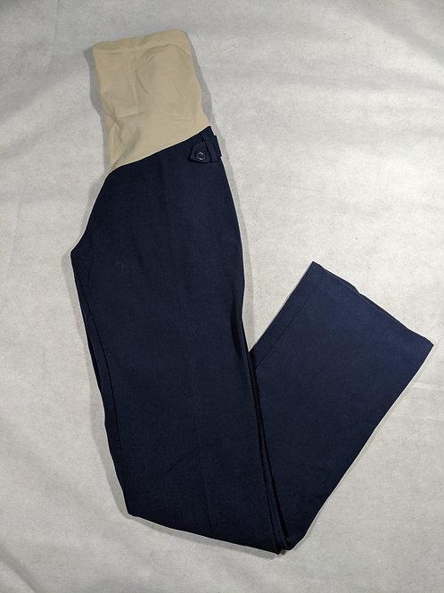 Motherhood, Full belly pleated straight leg dress pant, S