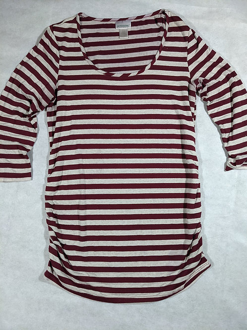 Motherhood, Striped Scoop Neck Long Sleeve, M