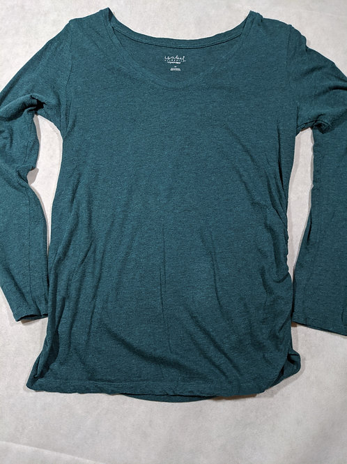 Isabel, Scoop neck, Long Sleeve, Green, M