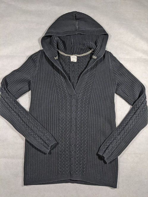 Old Navy, V-Neck Cable Hooded, M